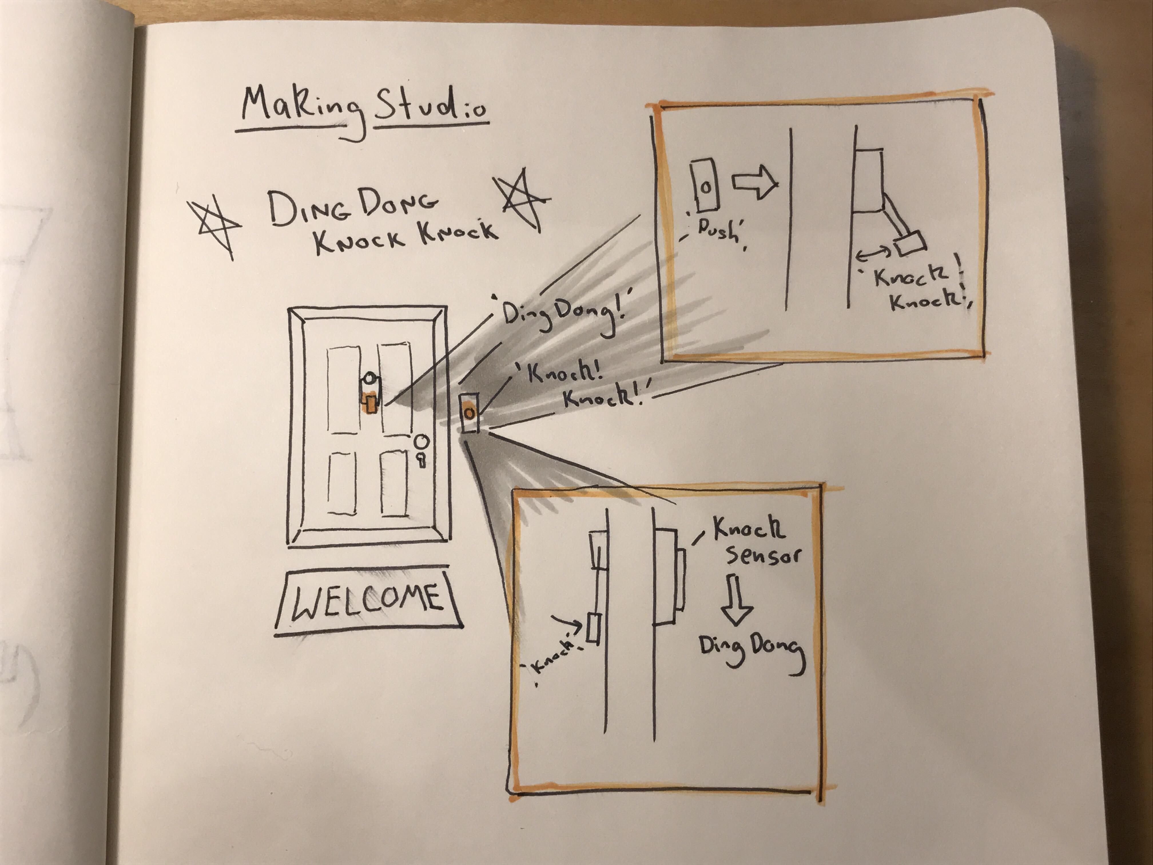 Louis Making Studio Ding Dong Door Bell Circuit Knock Sketch